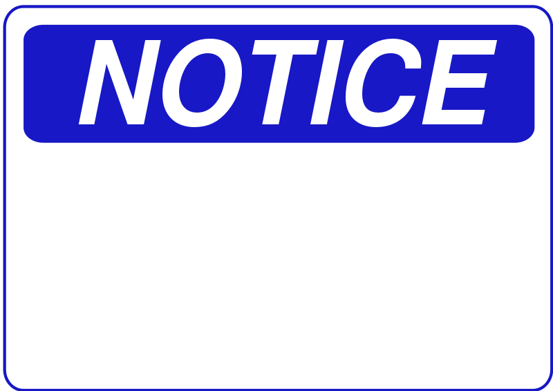 Free Clipart: Notice.