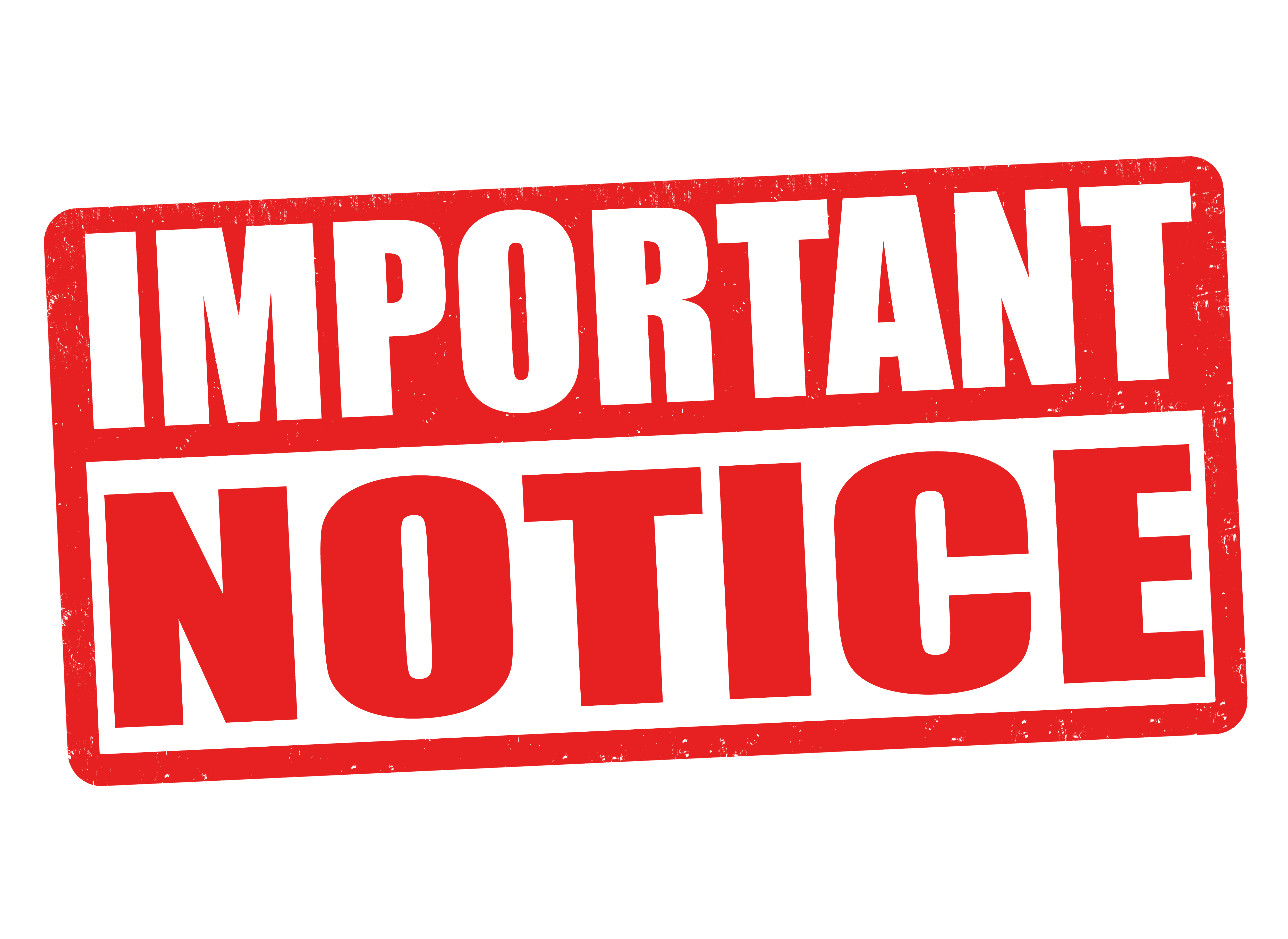 Important Notice Clipart.