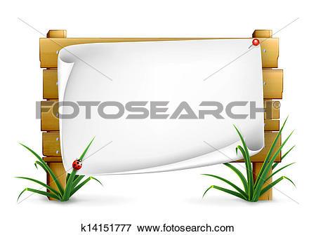 Clip Art of Notice board, 10eps k14151777.