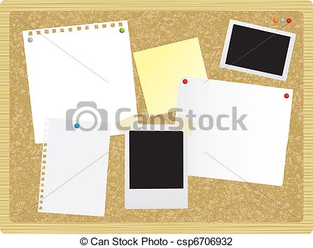 Clip Art of noticeboard or pinboard.