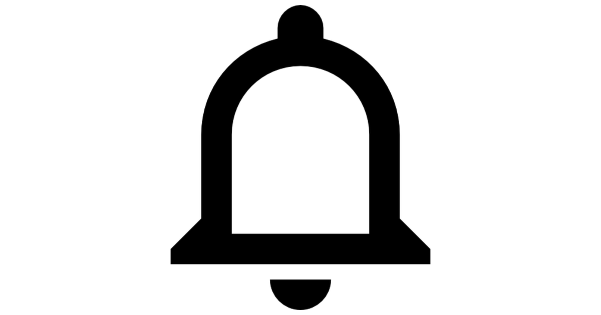 Notifications bell button.