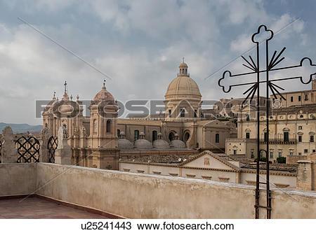 Stock Photo of San Nicolo Catedrale, Noto, Sicily, Italy u25241443.