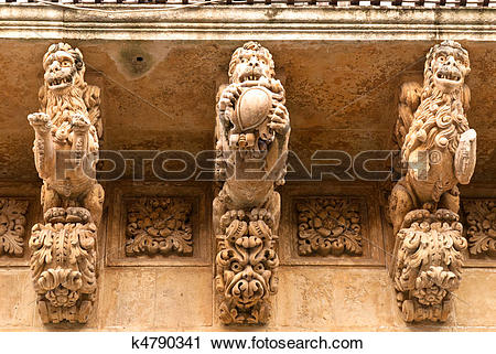 Stock Photography of Nicolaci Palace in Noto k4790341.