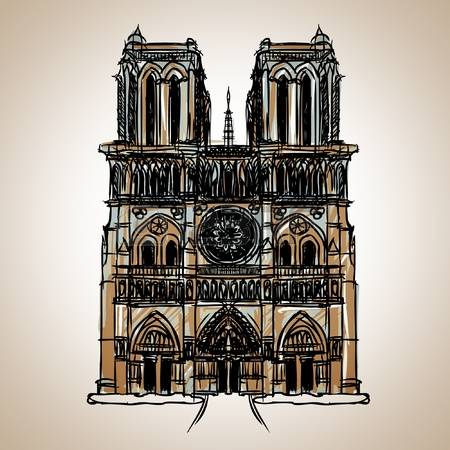 439 Notre Dame Cathedral Stock Illustrations, Cliparts And Royalty.