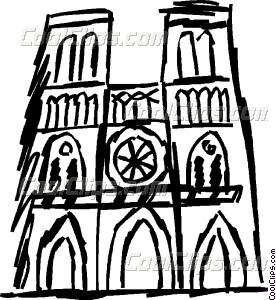 Notre Dame Vector Clip art.