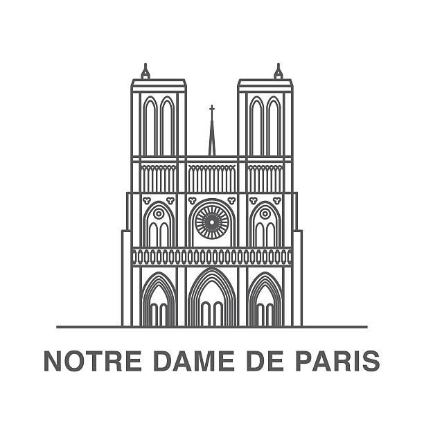 Best Notre Dame Illustrations, Royalty.