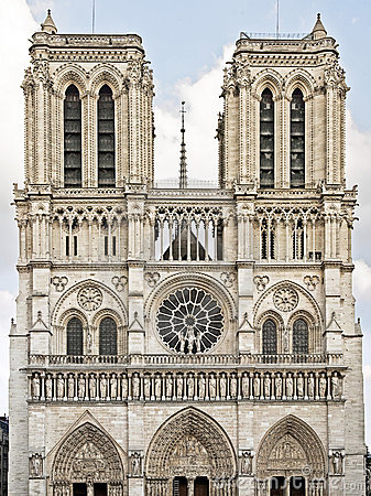 Notre Dame De Paris Gothic Portal France Stock Photos, Images.