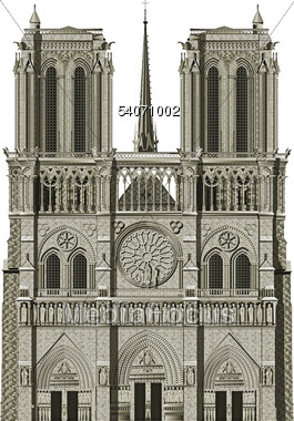 Stock Photo Notre Dame Paris France Clipart.