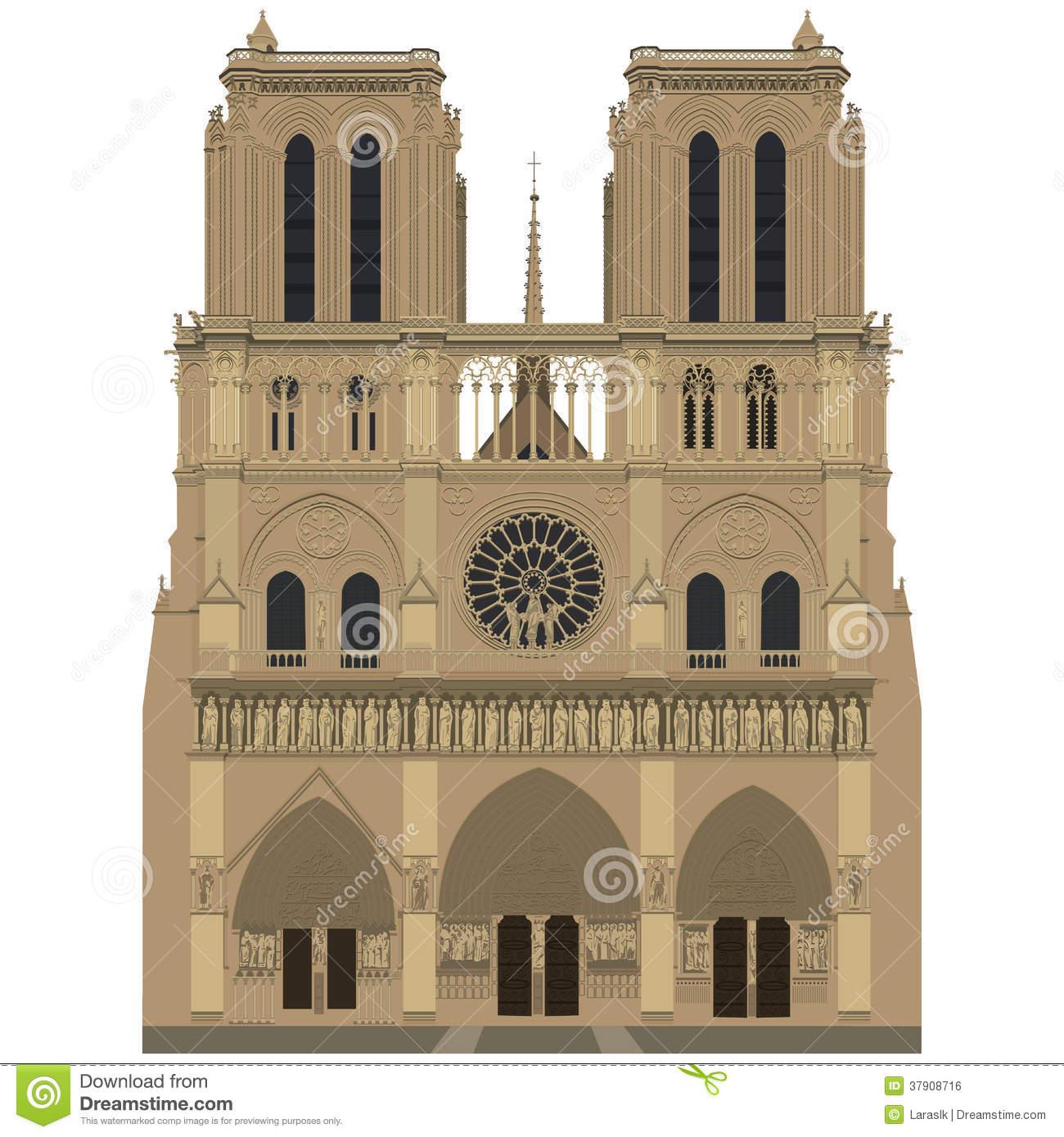 Notre Dame De Paris Royalty Free Stock Image.