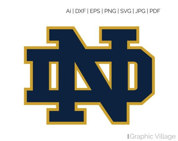 Notre Dame Fighting Irish SVG, EPS Vector Clipart Digital.