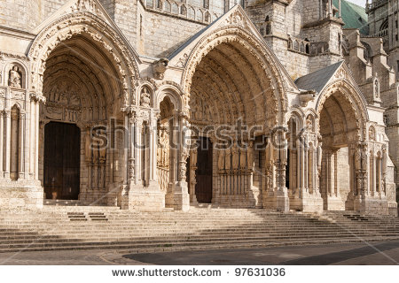 Cathedral Our Lady Chartres Notredame De Stock Photo 97630970.