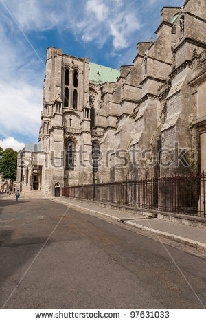 Cathedral Our Lady Chartres Notredame De Stock Photo 97631036.