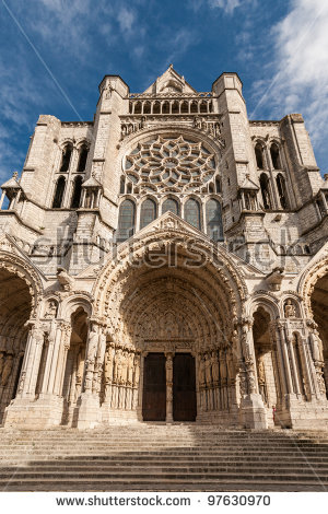 Cathédrale Notre Dame De Chartres Stock Photos, Royalty.