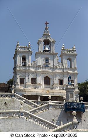 Photographies de conception, Goa, Inde, église, panaji, notre.