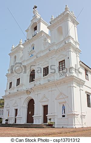 Photographies de conception, Goa, Inde, Panjim, église, notre.