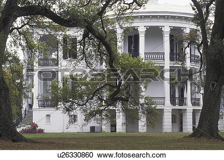 Stock Photography of plantation, LA, White Castle, Louisiana.