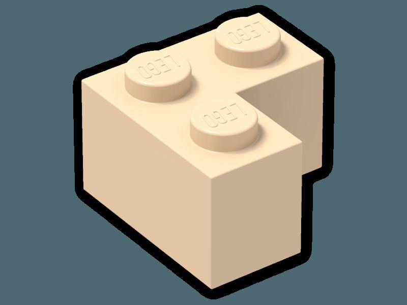 Brick 2 x 2 Corner 2357.