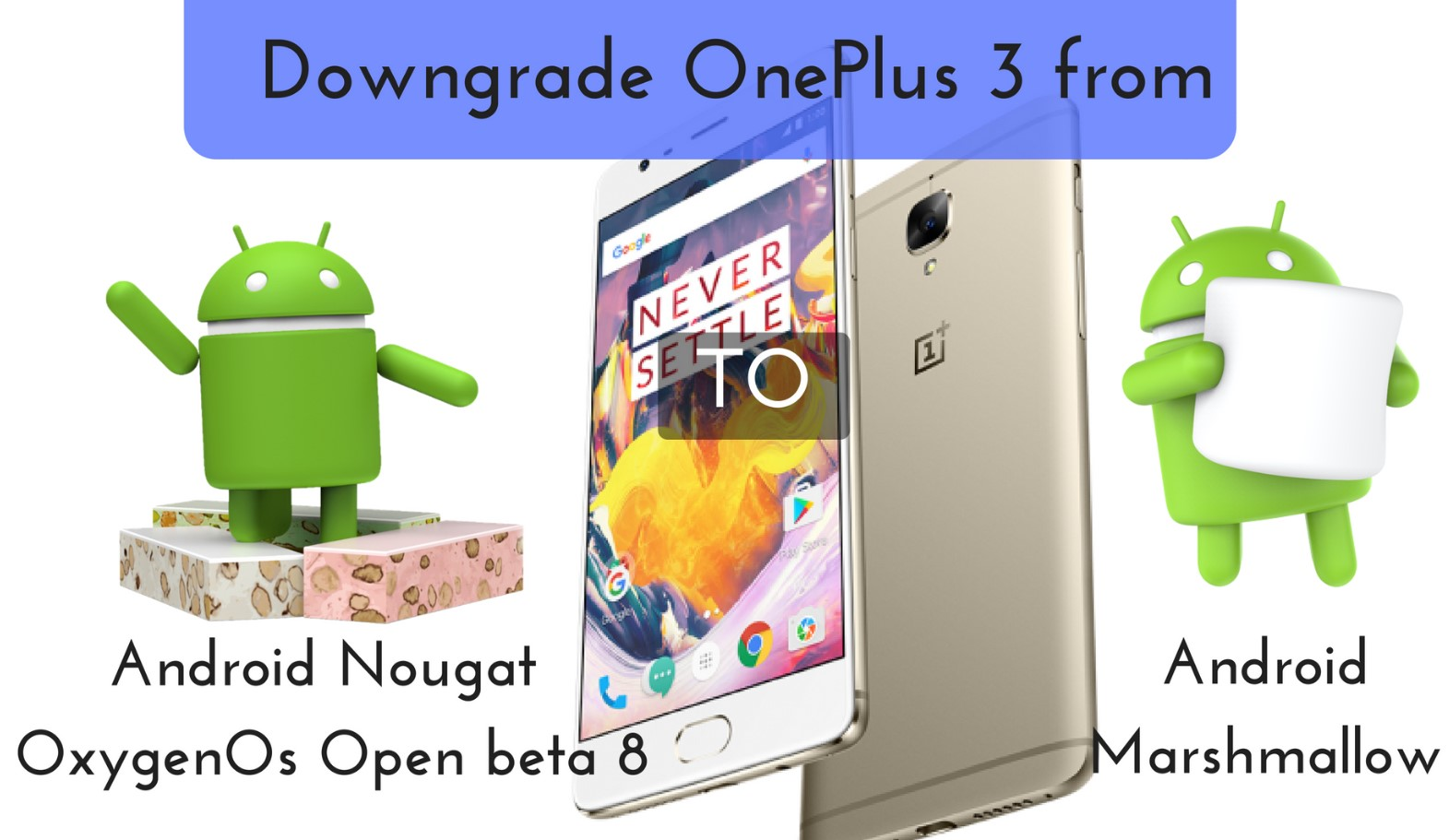 to Downgrade OnePlus 3 from Android Nougat to Marshmallow.
