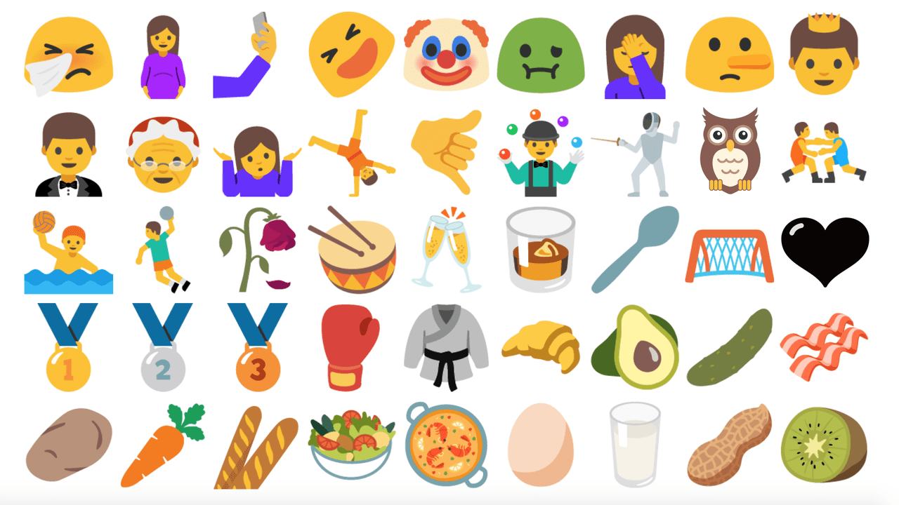 root] Android 7.0 Nougat emojis (72 new emo….