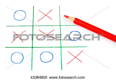 Stock Image of Noughts and crosses game k5364855.