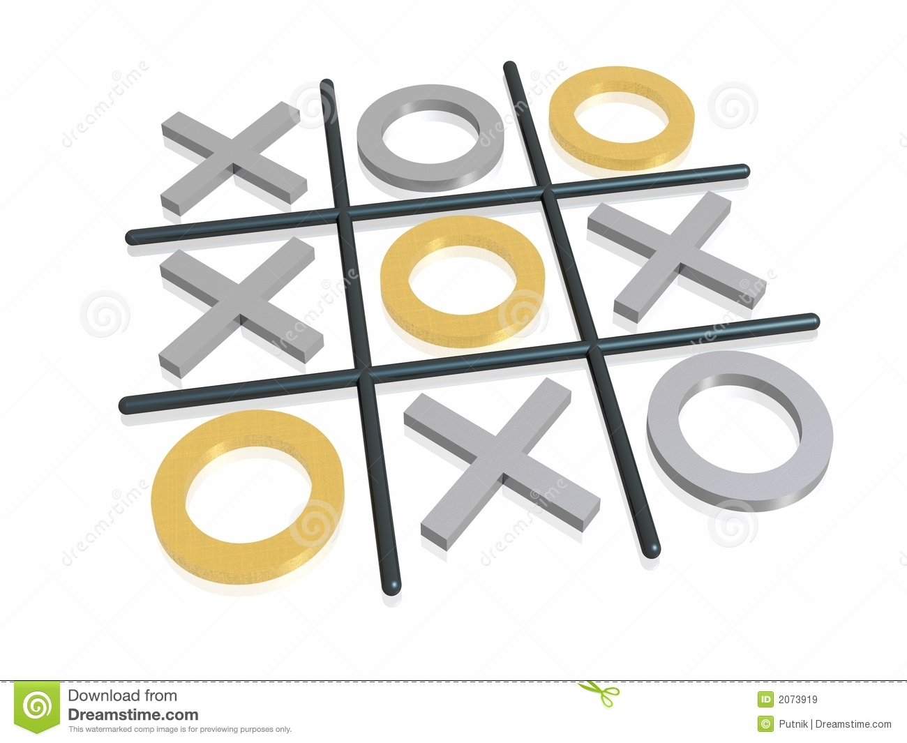 Noughts And Crosses Royalty Free Stock Images.