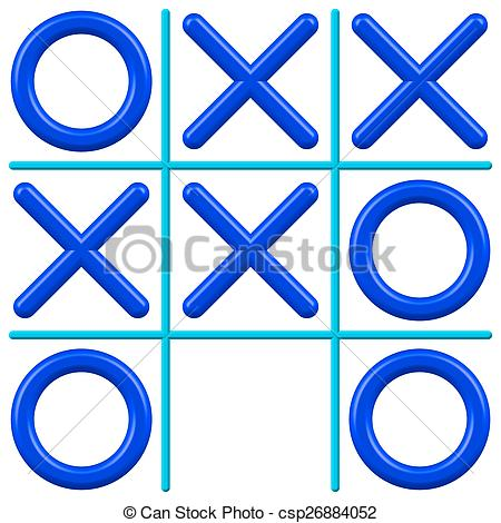 Clipart Vector of Noughts and Crosses.