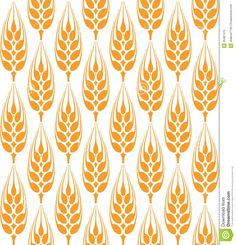 Field Of Wheat, Barley Or Rye Vector Visual Graphic Repeat Pattern.
