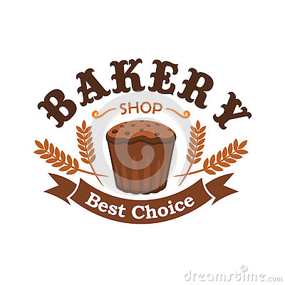 A Best Bakery Label With A Loaf Of Bread Royalty Free Stock Images.