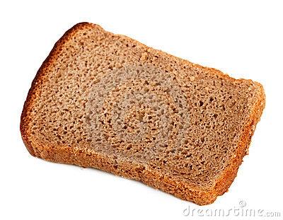 Rye Bread Slice Royalty Free Stock Photos.