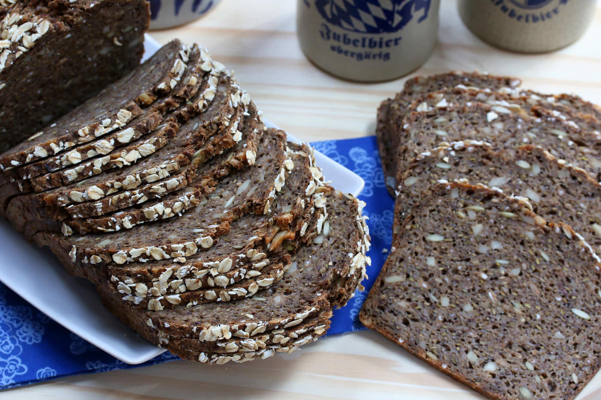 Danish Rye Bread (Rugbrød).