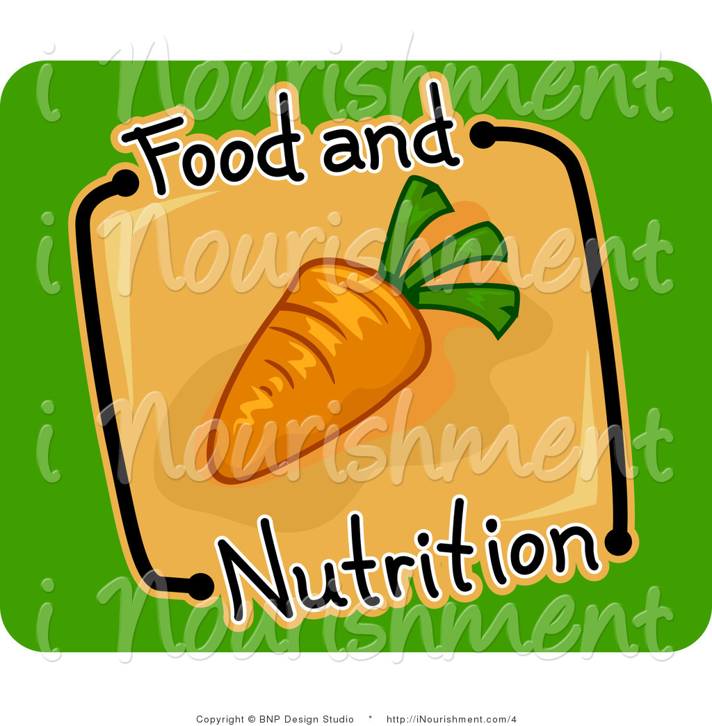 Vector Clipart of a Carrot Food and Nutrition Icon.
