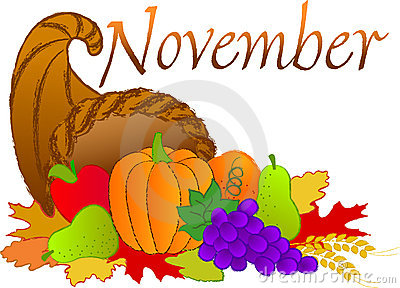 November Stock Illustrations.