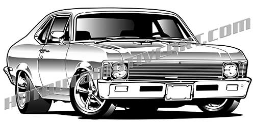 Nova classic car vector clipart.