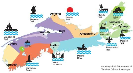 7 Regions Of Nova Scotia.