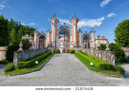 Chateau Nove Hrady This Rococo Building Stock Photo 115193536.