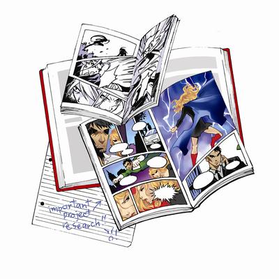 Graphic novel clip art.