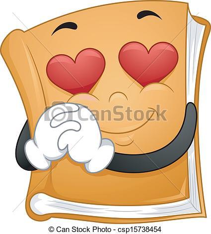 Clipart Vector of Romantic Novels.