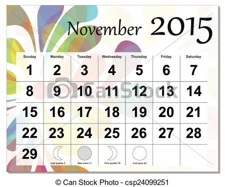Library of calendar vector royalty free november 2015 png.