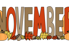 November clipart banner, November banner Transparent FREE.