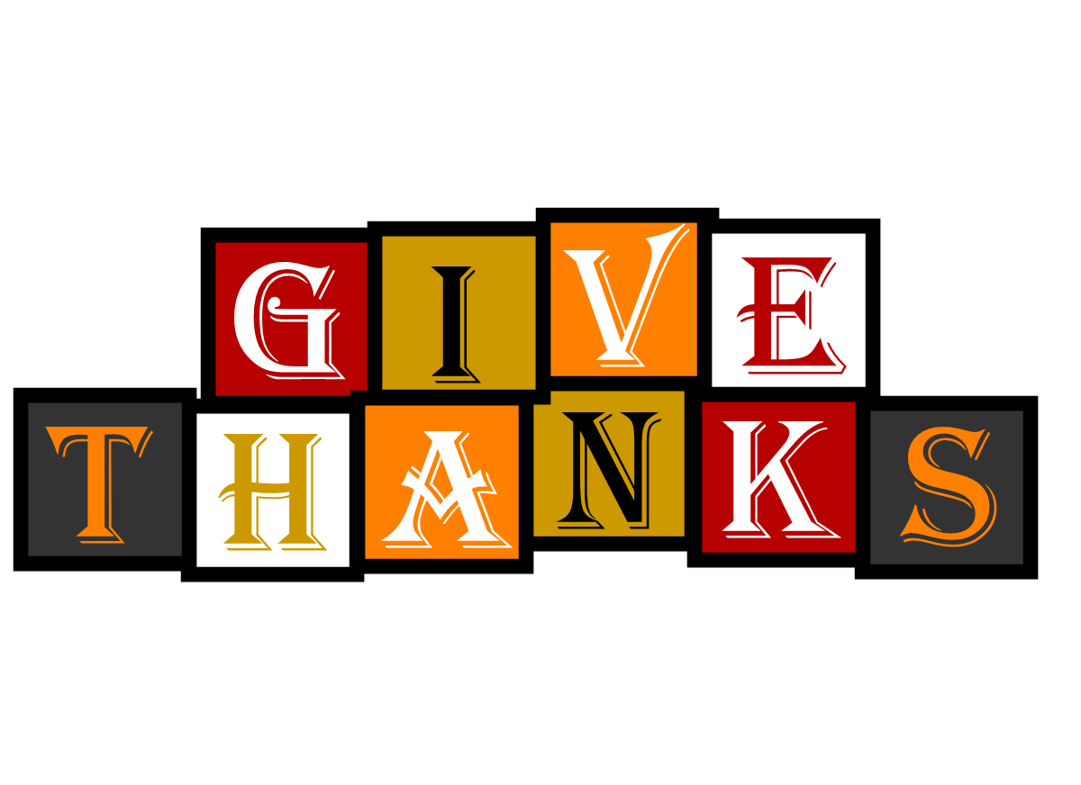Free Clipart N Image: Give Thanks Banner.