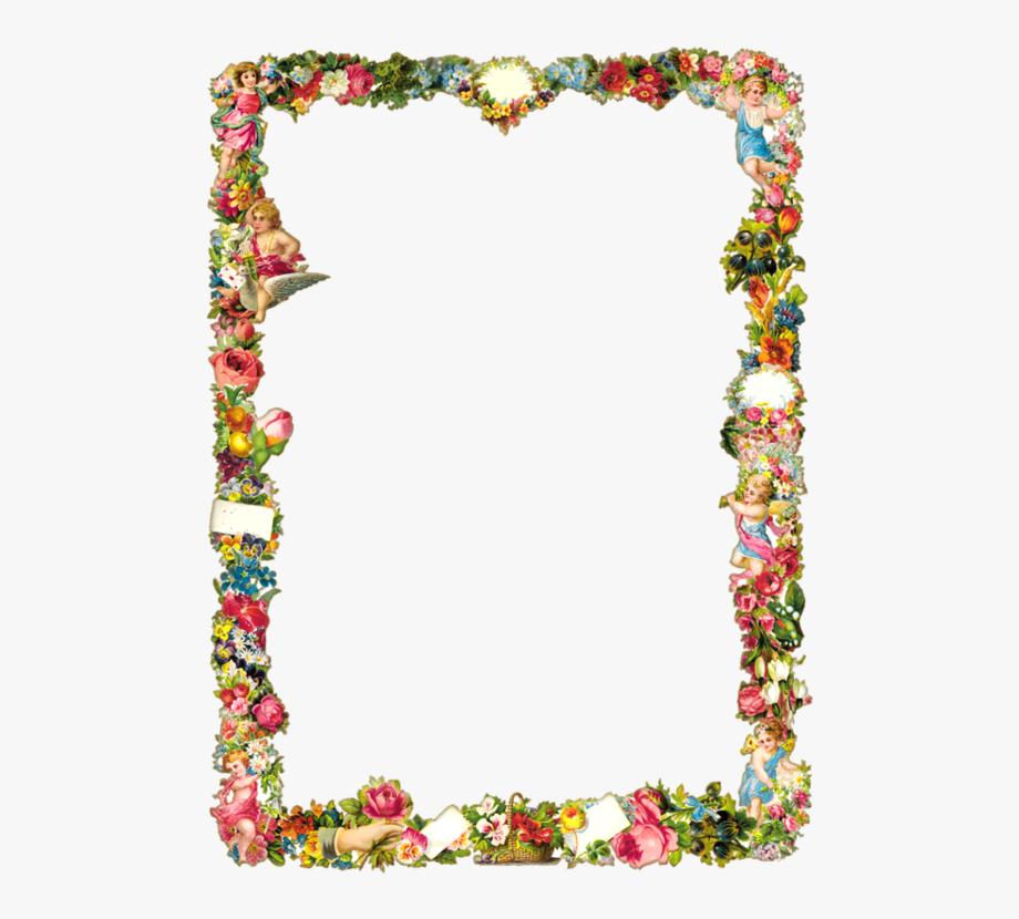 Angel Flowers, Decorative Borders, Border Design, Frames.