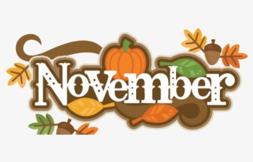 Free November Border Clip Art with No Background.