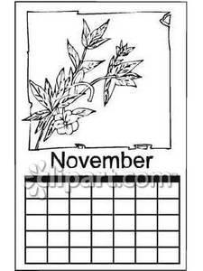 November Calendar Clip Art (64+).