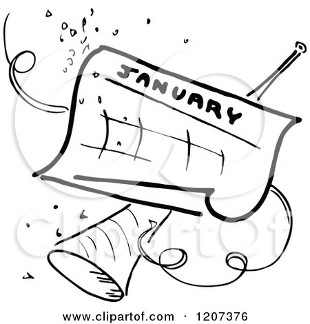 Clipart of a Vintage Black and White November Calendar with a.