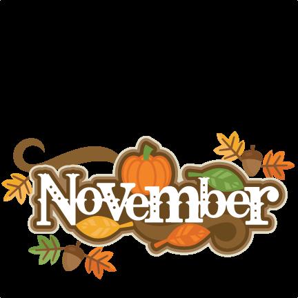 November Banner Cliparts.