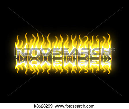 Stock Illustration of November on Fire k8528299.