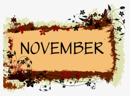 Free November Free Clip Art with No Background.