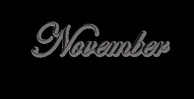 November PNG Free Download.