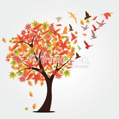 Autumn Tree Vector Art.