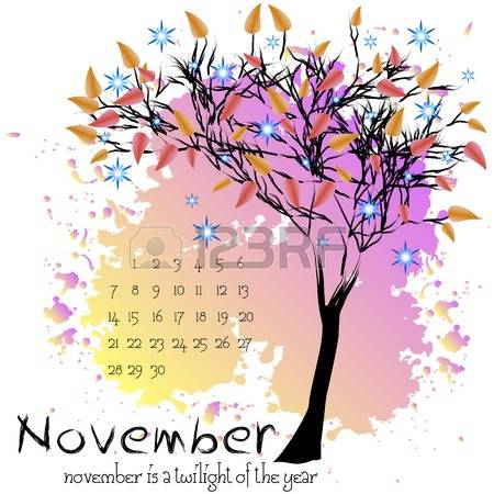 november tree clipart #4